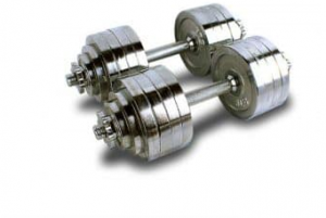 MTN Gearsmith Heavy Duty Adjustable Cast Iron Chrome Weight Dumbbells