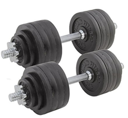Titan Fitness Pair Adjustable Cast Iron Dumbbells